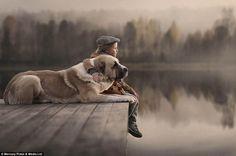 Elena Shumilova's photos show the bond between children and their pets | Daily Mail Online  @ essentialpathwaystohealing.com children
