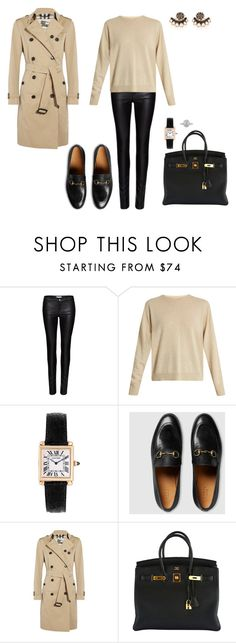 """""""Sem título #2001"""" by analuli on Polyvore featuring moda, Zoe Karssen, Isabel Marant, Cartier, Gucci, Burberry, Hermès e Mark Broumand"""