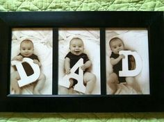 Baby With D A D Letters Photographs