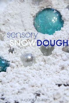 sensory snow dough