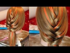Причёска - объёмная ёлочка - YouTube