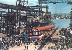 Launching Ceremony for the submarine USS Swordfish at Mare Island Navy Shipyard on San Francisco Bay, April This is the earliest known color Official Navy Photograph that can be precisely dated. History Images, Us History, American History, Navy Ships, United States Navy, Submarines, Historical Pictures, War Machine, Battleship