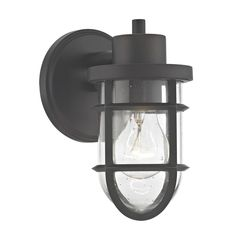 6a9da65381 Seeded Glass Outdoor Wall Light with Bronze Cage