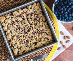 Banana Blueberry Crumb Bars