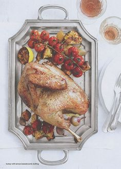 TURKEY WITH LEMON BREADCRUMB STUFFING Serves: 8 // Preparation Time: 15 minutes, plus resting time // Cooking Time: 1 hour  Using lemon and ...