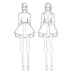 Fashion illustration - fashion design sketches // Milan Zejak