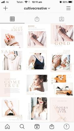 $25.00 · The Jewelry Social Feed pack is a timeless set of 30 custom-curated, exquisite templates. Soft and refined, these fully-customizable Canva Templates will put all the attention on your artisanal abilities and drive consumer engagement. WHAT'S INCLUDED:30 square (1080 x 1080px) Social Feed Canva Templates | Free stock Images already edited with Cultive Presets | Step by step installation instructions | Customer Support from our team Instagram Post Template, Social Media Branding, Installation Instructions, Social Media Content, Templates Free, Customer Support, Engagement, Instagram Posts, Image