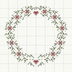 Schemi punto croce di Natale per tovaglie -