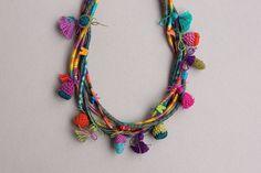 Collier coloré multi instruction bijoux en fibre par rRradionica, $148.00