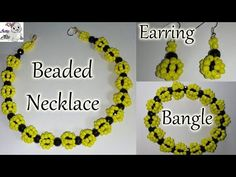 #41 How to Make Beaded Necklace, Earring & Bangle Set || Diy || Jewellery Making - YouTube