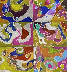 Elements of Art pieces - Line, Colour, Texture