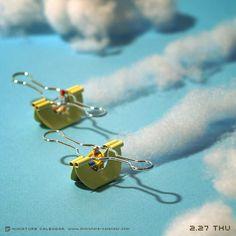 Flying boat miniature calendar