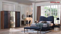 Set dormitor cu pat de lux Novita - somiera rabatabila Chesterfield, Oversized Mirror, Furniture, Home Decor, Decoration Home, Room Decor, Home Furnishings, Home Interior Design, Home Decoration