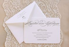 Letterpress Save the Date by Vellum & Vogue