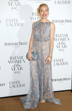 Actress Sienna Miller attends Harper's Bazaar Women of the Year Awards at Claridge's Hotel on November 3, 2015 in London, England.
