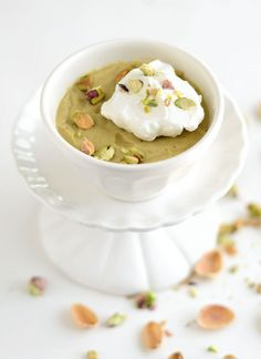 Forget the funky green instant stuff - this is the REAL pistachio pudding.
