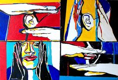 This is the first Audism painting. Sign Language Art, American Sign Language, Deaf Art, Deaf Culture, Cultural Experience, Love Signs, History, Disability, Painting