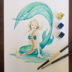 Watercolour Mermaid Art Mermaids Mermaid Wall Art