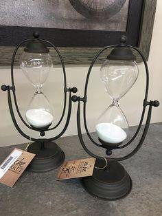 Metal and Glass Hour Glass