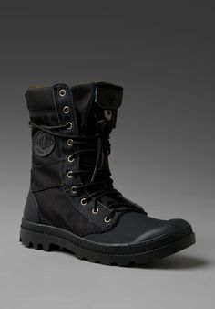PALLADIUM Ballistic Nylon & Specialty Leather Combo Pampa Tactical in Black/Metal at Revolve Clothing - Free Shipping!