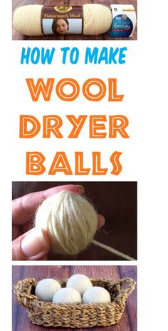 Wool Dryer Balls and Essential Oils are my favorite addition to laundry loads! Check out this DIY tip and step-by-step instructions for How to Make your own dryer balls! Cleaners Homemade, Diy Cleaners, Household Cleaners, Household Tips, Diy Cleaning Products, Cleaning Hacks, Cleaning Recipes, Visa Gift Card, Gift Cards
