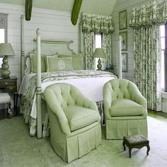 The carpet puts the green theme over the top.  Otherwise, very pretty.