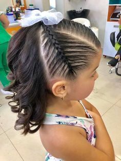 Hairstyles For Medium Length Hair Dope Hairstyles, Flower Girl Hairstyles, Braided Hairstyles, Girl Hair Dos, Little Girl Haircuts, Natural Hair Styles, Long Hair Styles, Braids For Black Hair, Toddler Hair