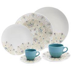 Aparelho de Jantar, Chá e Café Oxford Porcelanas Coup Lindy Hop EM42-4639 - 42 peças - Até 6 Pessoas no Extra.com.br