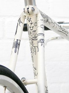 My creatures would look so cute sketched on a bike!  | Illustrated bikes