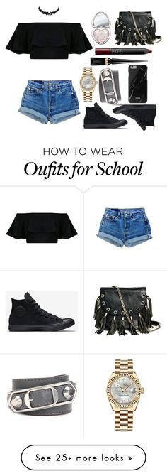 """""""Now That's Edgy"""" by grace-orourke on Polyvore featuring Rolex, Balenciaga, Too Faced Cosmetics, GUESS by Marciano, Christian Louboutin, NARS Cosmetics and Native Union"""