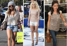 Ashley Tisdale, Carrie Underwood, and Selena Gomez in Sequin Tops...Simple Little Life