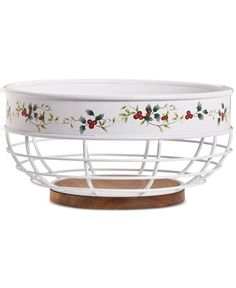 6028082c309 Pfaltzgraff Winterberry Wire Bread Basket & Reviews - Bar & Wine - Dining &  Entertaining - Macy's