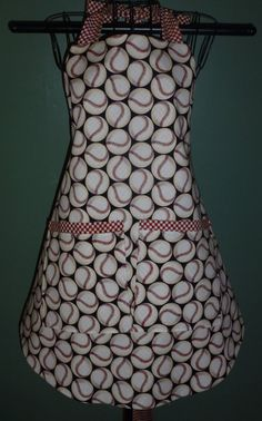 SALE 20 oFF Baseball Apron Women Mens Adult by OhSewFun1 on Etsy, $20.60
