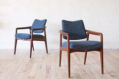 SALE  - Sigvard Bernadotte Teak Danish Lounge Chairs Arm Chairs by OtherTimesVintage on Etsy https://www.etsy.com/listing/210664252/sale-sigvard-bernadotte-teak-danish