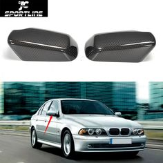 68.98$  Watch now - http://ali2d6.worldwells.pw/go.php?t=32787213662 - E39 E38 Replacement Styling Carbon Fiber Car Side Mirror Cover Caps for Benz E39 & E38 1996-2003 68.98$