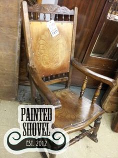 Antique rocking chair sold by auction at Painted Shovel in Avondale, AL.