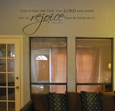 Vinyl Wall Decal This is the day that the LORD has by SoundSayings, $24.95