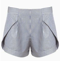 Shop for Blue Stripe Side Panel Shorts by Thakoon at ShopStyle. Fashion Mode, Fashion Pants, Fashion Outfits, Skirt Pants, Pants Outfit, Diy Shorts, Pants Pattern, Short Outfits, Sweater Weather