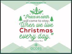 #AccesCosultoría les desea una Feliz Navidad este 2015 en compañía de sus seres queridos. ¡Gracias! #HelenSteinerRice