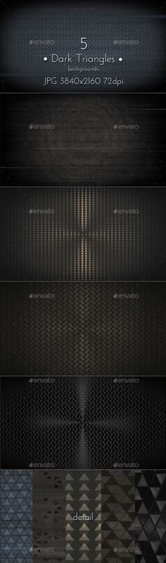 Dark Triangles Background — Photoshop PSD #background #perforated • Available here → https://graphicriver.net/item/dark-triangles-background/18283990?ref=pxcr