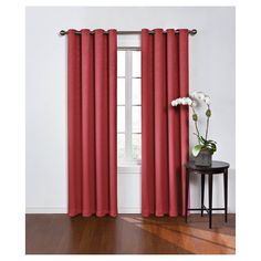 """Round & Round Thermawave Blackout Curtain Red (52""""x108"""") Eclipse"""