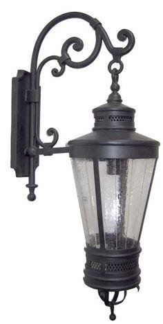 Palmeras 10 inch wall bracket: Iron Outdoor Lanterns
