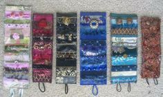 gorgeous fabric collage cuffs