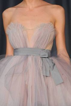 Grey tulle