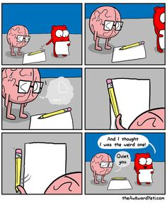 The Awkward Yeti Akward Yeti, The Awkward Yeti, Funny Texts, Funny Jokes, Hilarious, Funny Cartoons, Funny Comics, Heart And Brain Comic, Medical Memes