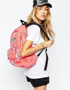 Coral floral vans realm backpack asos.com