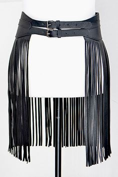 Double Buckle Belt With Fringes