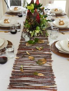 Make a Rustic Twig Table Runner HGTV