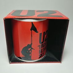 """Under A Blood Red Sky"" New Ceramic Coffee Mug Cup in the Display Box Sky New, U2, Display Boxes, Mug Cup, Musical Instruments, Coffee Mugs, Blood, Home And Garden, Entertaining"
