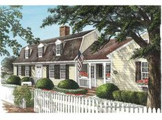 Dutch colonial with attached garage